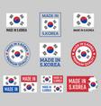 made in south korea icon set republic of korea vector image