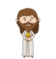 man manger character isolated icon vector image vector image