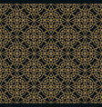 modern geometric tiles pattern golden lined vector image vector image