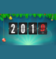 new year background with fir-tree branches and vector image