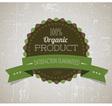 organicy retro label round green vector image vector image