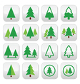 Pine tree park green icons set vector image vector image