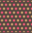 pink and tan polka dots on gray background vector image
