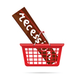 recession in red basket vector image