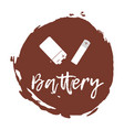 Recycling waste sorting icon - battery