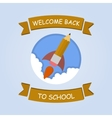 Rocket ship launch made with pencil vector image vector image
