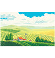 rural landscape with a beautiful view distant vector image