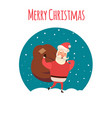 santa claus carrying sack full of gifts xmas time vector image vector image
