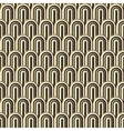 Seamless gold white and black simple art deco wave vector image vector image