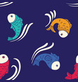 seamless pattern with decorative fishes vector image vector image
