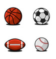 set balls for football or soccer basketball vector image vector image