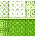 set dot seamless patterns vector image