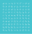 set line icons cosmetology and plastic vector image