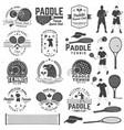 set of paddle tennis badge emblem or sign vector image vector image