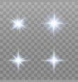 set of various flare elements vector image vector image