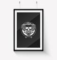 sketch racer skull with helmet vector image vector image