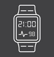 Smart watch line icon gadget and device