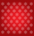 snowflakes backgrounds red vector image vector image