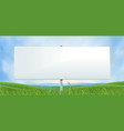 spring or summer wide white billboard vector image vector image