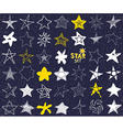 Star sketch Doodles set hand drawn isolated vector image