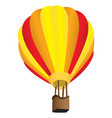 stripy hot air balloon vector image vector image