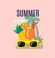summer time template vector image vector image