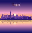 taipei city silhouette on sunset background vector image vector image