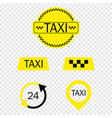 taxi icons colection on transparent background vector image