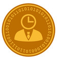 time manager digital coin vector image