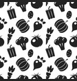 vegetable black silhouettes seamless pattern vector image vector image