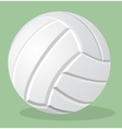 volleyball white ball realistic vector image