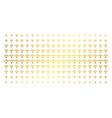 wi-fi gold halftone matrix vector image vector image