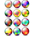 Rainbow Glossy Ball Set vector image