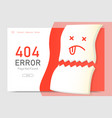 404 error page not found miss paper with vector image vector image