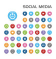 50 social media bubble icons