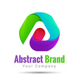 abstract logo corporate icon design set Isolated vector image vector image