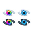 abstract vision icons with eyeballs vector image vector image