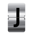 Alphabet silver flipboard letters j vector image vector image