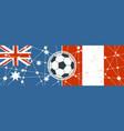 australia vs peru vector image