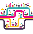 Background with abstract town vector image vector image