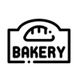 bakery bread shop nameplate icon thin line vector image vector image