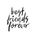 best friends forever bff vector image
