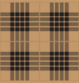 black and beige tartan plaid seamless pattern vector image vector image