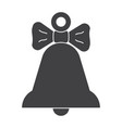 black bell icon vector image vector image