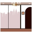 Boutique Shop City View vector image vector image