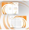 brochure trifold leaflet geometric spiral element vector image vector image