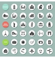 Buildings landmarks and travel icons vector image vector image