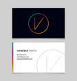 business-card-letter-v vector image