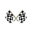 checkered race flag flat vector image vector image