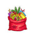 christmas bag vector image vector image